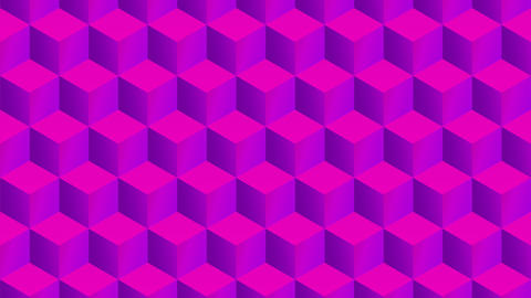 Isometric pink cubes pattern moving vertically. Seamless loop Animation