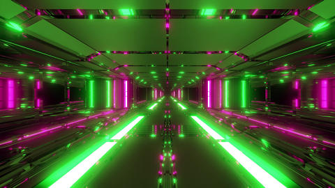 endless futuristic scifi science-fiction space tunnel corridor space hangar 3d CG動画