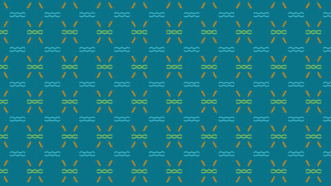 Multicolor Background Pattern Animation