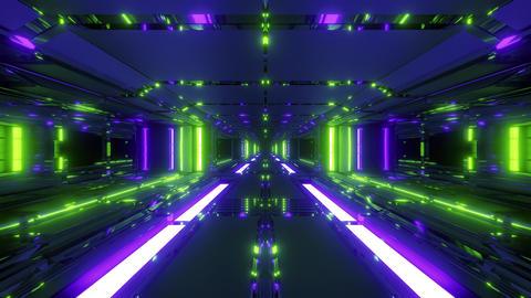 endless futuristic scifi science-fiction space tunnel corridor space hangar 3d Animation