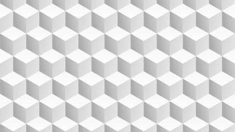 Isometric white cubes pattern moving vertically. Seamless loop Animation
