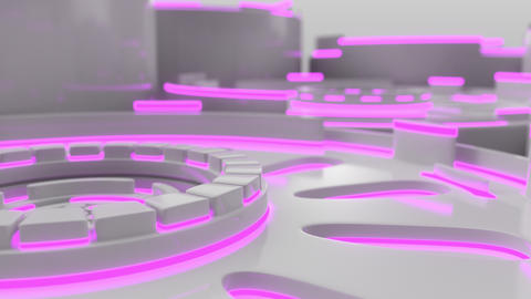 1026 Technological background loop with colorful glowing lines Live Action