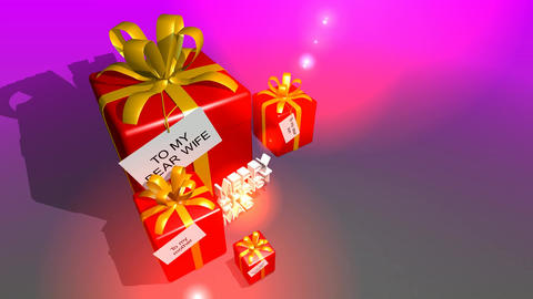 101 3D animated christmas template of boxed gifts Animation