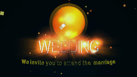 095 3d animated wedding invitation Animation