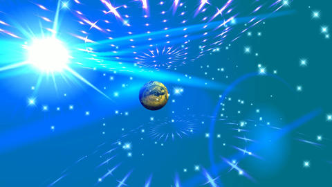 117 3D animated background logo for abstract planet Animation