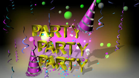 116 3D animated party and festival template in cartoon style Animation