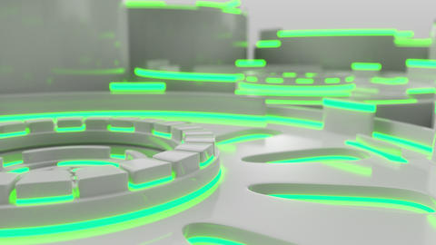 1008 Technological background loop with colorful glowing lines GIF