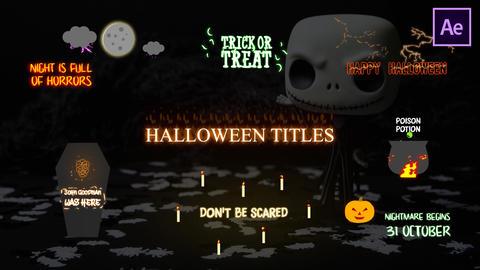 Halloween Cartoon Titles Plantilla de After Effects