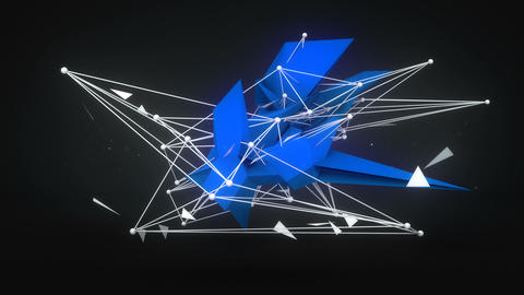 Future shape 3D Render. Abstract loopable animation Animation