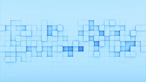 Blue squares 3D render loopable animation Animation