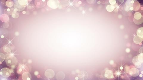 Gentle pink frame of bokeh lights. Seamless loop background Footage