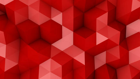 Red triangle polygons background loopable Animation