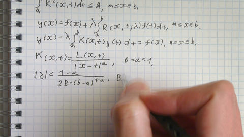 Solution of integral equation timelapse Footage