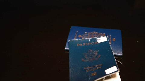 Looking at Canadian and US passport Footage