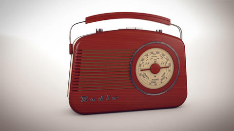 Retro old radio receiver Animation