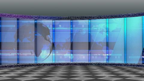 News TV Studio Set 200- Virtual Background Loop Live Action
