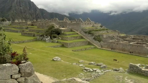 View of the ancient Inca City of Machu Picchu, Peru Footage