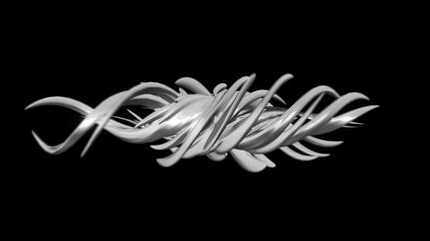 Abstract swirl 3D element Animation