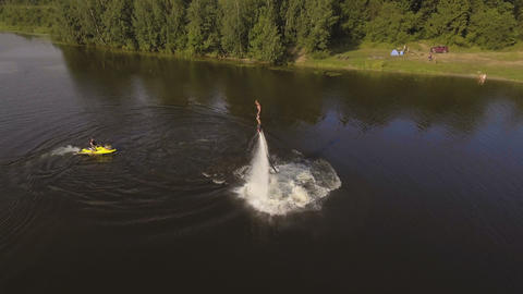 Fly board rider Live Action