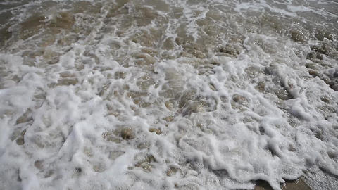 Choppy shoreline sea Live Action