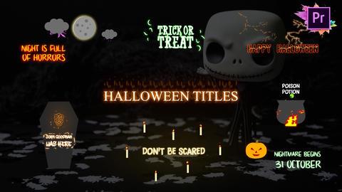 Halloween Cartoon Titles Motion Graphics Template