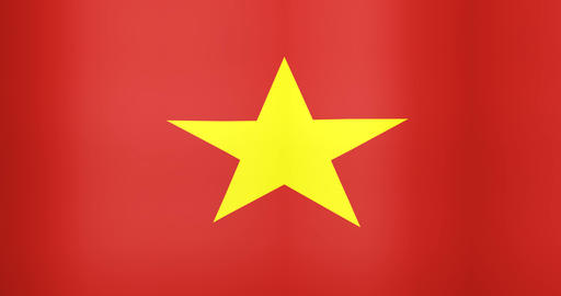 Waving Flag of Vietnam Looping Background Live Action