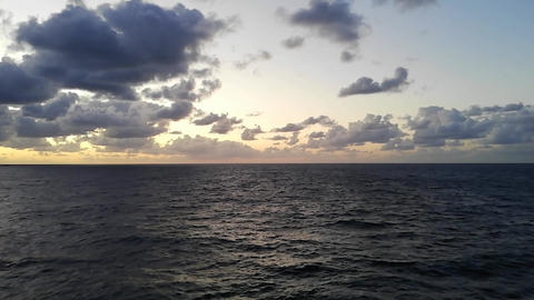 Horizon over the sea at sunset Footage