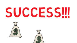 success money, felt pen drawn animation Footage