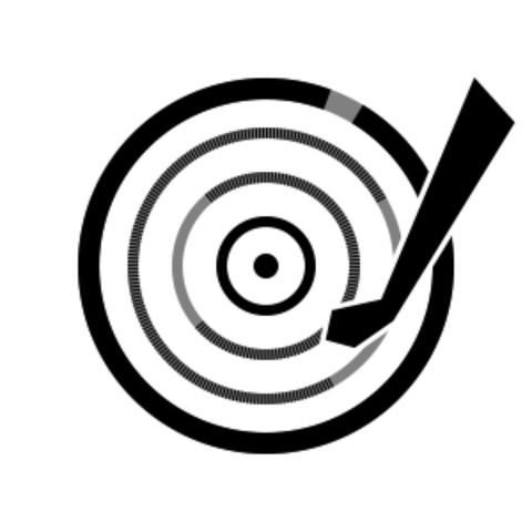 Play button animated icon. Vinyl records plate spinning and head moving. Sound or music UI UX Animation