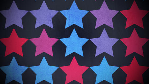 Motion colorful stars pattern, abstract background Animation