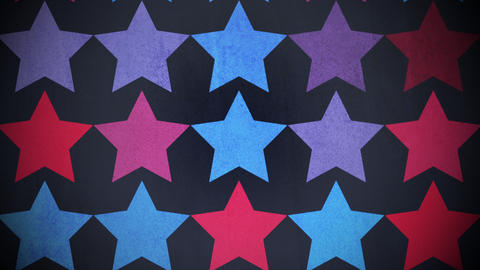Motion colorful stars pattern, abstract background Stock Video Footage