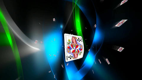 126 3d animated template for playing cards or prophecy subject Animation