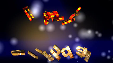 120 3D ANIMATED GREETING TEXT HAPPY BIRTHDAY with dancing letters Animation