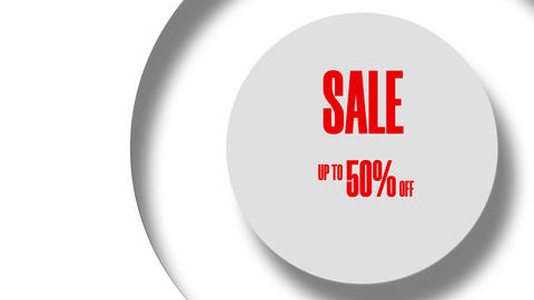 Sale Up To 50 Percents Off Text Looping Animation In The Circle 8K Animation