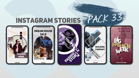 Instagram Stories Pack 33 After Effects Template