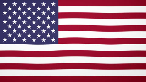 USA Flag Composition Animation