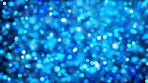 Defocus Background of Blue Particles Animation