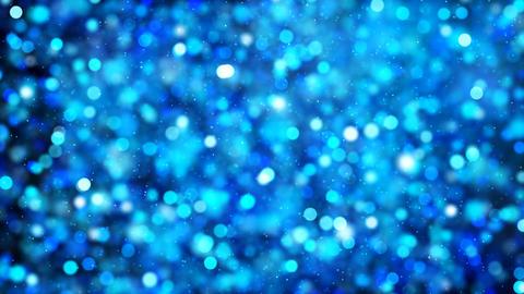 Defocus Background of Blue Particles GIF