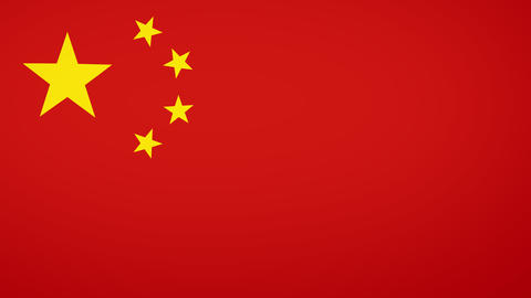 China Flag Composition Animation