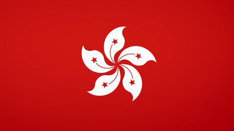 Hong Kong Flag Composition Animation