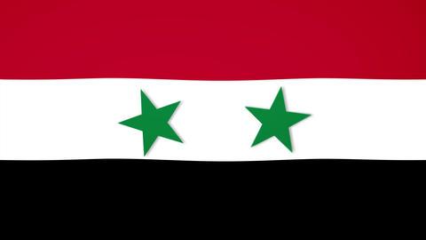 Syria Flag Composition Videos animados