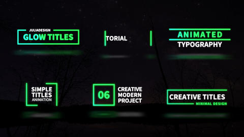 Glow Titles After Effects Template