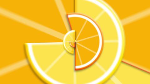 Lemon Orange Vertical Loop CG動画