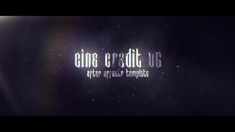 Cine Credit V 6 After Effects Template