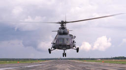 Extreme takeoff of mi-8 helicopter Live Action