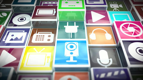 Multimedia Icons Animation