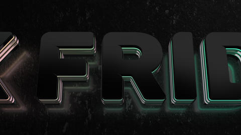 Text Animation With Black Friday Sale UP 50 GIF