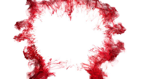 red color shockwave heart shaped Valentine's Day explosion copy space 60 fps Animation
