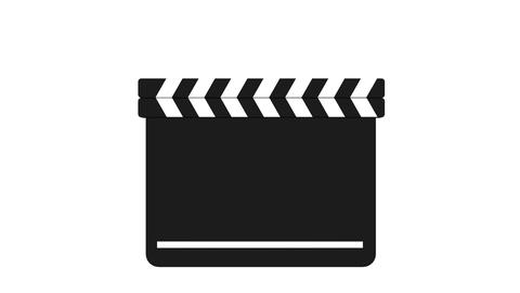 Clapperboard on white background Videos animados