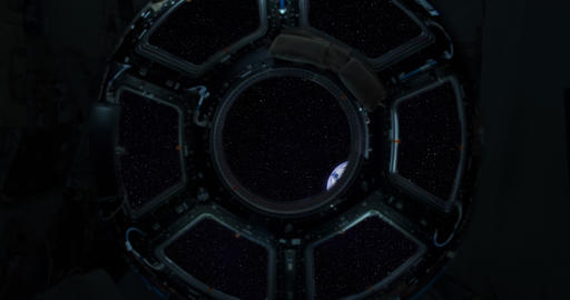 4K Spaceship Window / Space Travel / Planet Earth Footage